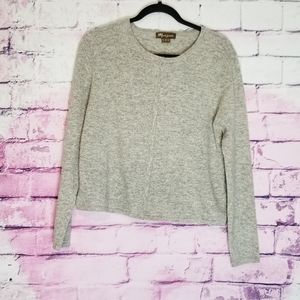 MONSOON LAMBSWOOL GRAY SNAP BUTTON FRONT CARDIGAN